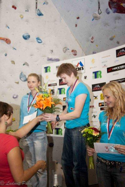 The ceremonial champion and the champion of the Czech Republic in difficulty climbing, photo Ludovít Puha